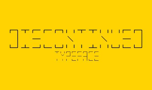 DISCONTINUED Font