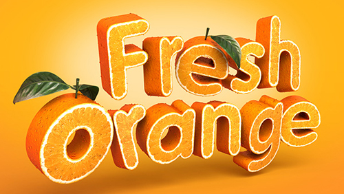 Create a 3D, Fruit-Textured, Text Effect in Illustrator Tutorial