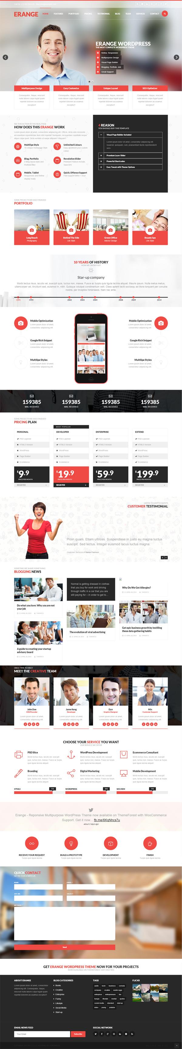 Erange - Responsive Multipurpose WordPress Theme