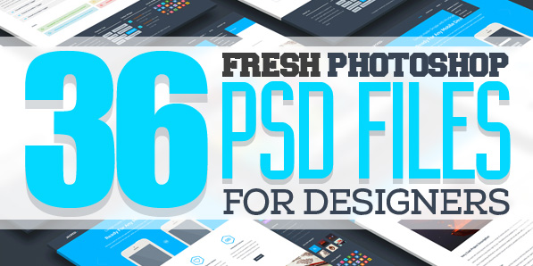 Free PSD Files: 36 Fresh Photoshop PSD Files for Designers
