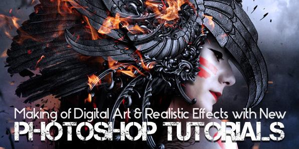 Photoshop Tutorials: 18 New Tutorials to Making of Digital Art, Realistic Effects & Photo Manipulation