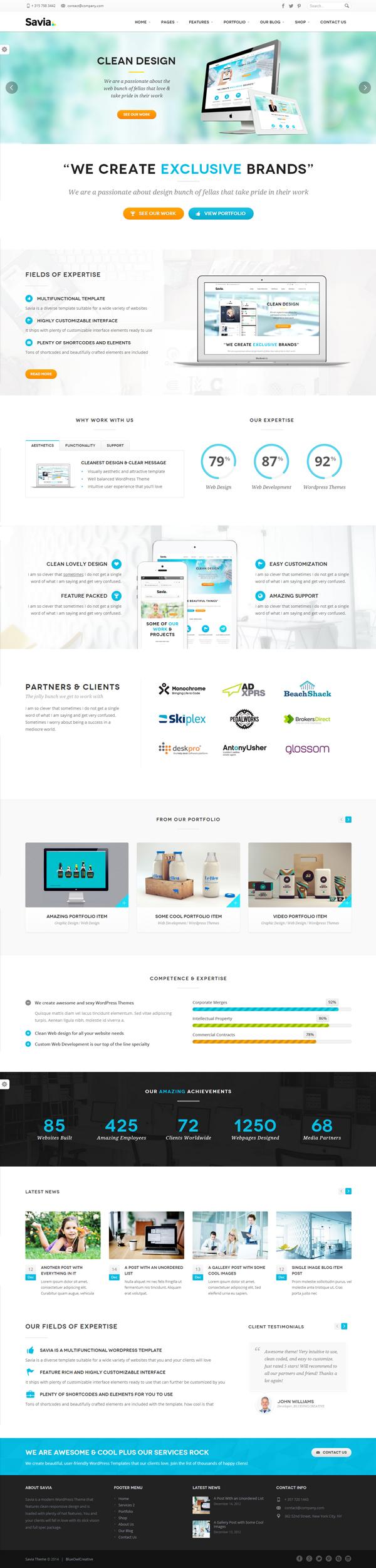 Savia - Responsive Multi-Purpose WordPress Theme
