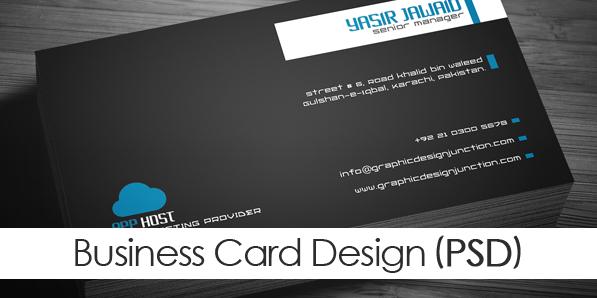 Free Corporate Business Card Mockup (PSD)