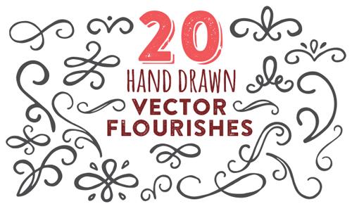 Free Hand Drawn Vector Flourishes