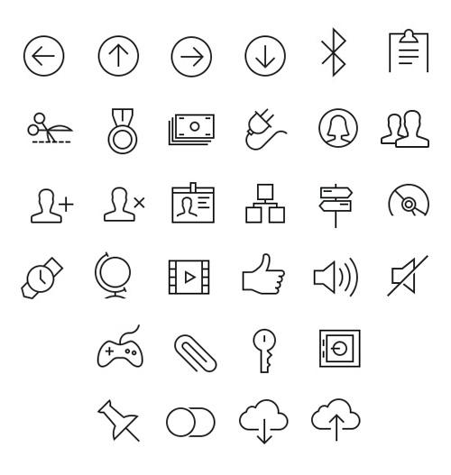 Tab Bar Icons iOS 7 Vol5