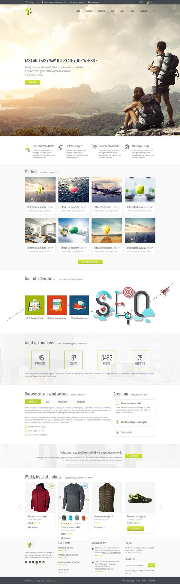 All in 1 - PSD HTML5 Template Multi-Purpose Business