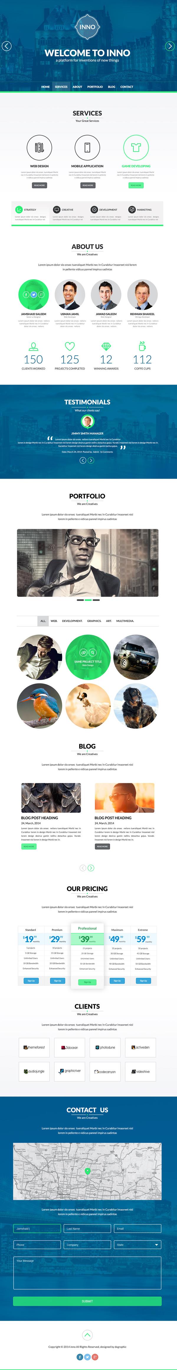 Inno - Creative PSD HTML5 Template