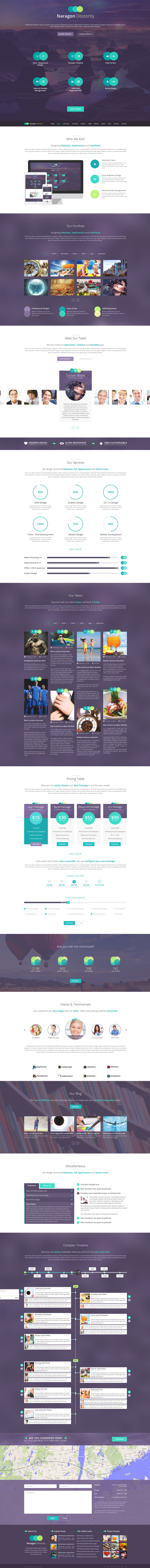 Naragon Dexterity - One page PSD HTML5 Template