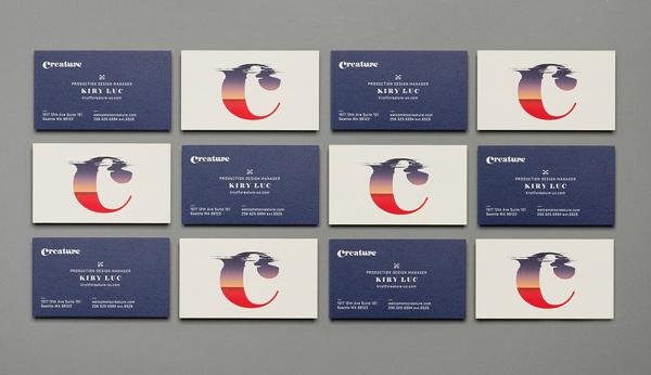 Creature Identity Branding Business Card