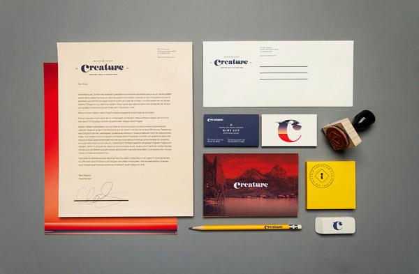 Creature Identity Branding Stationery