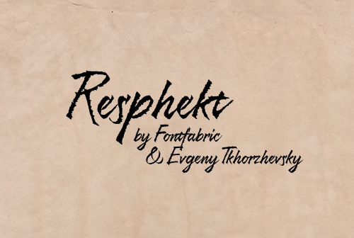 Resphekt free fonts
