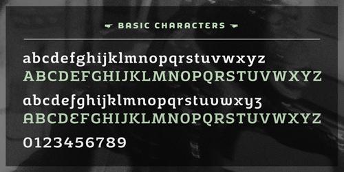 Adria Slab Free Fonts 12