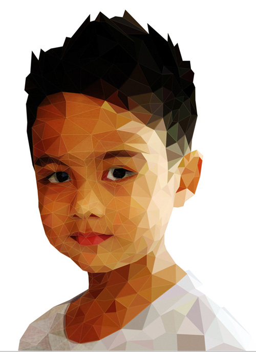 Low-Poly Portrait Illustrations for Inspiration - 15