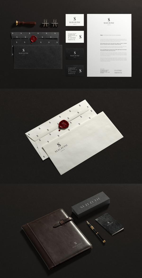 Suzi Zutic Branding Stationery
