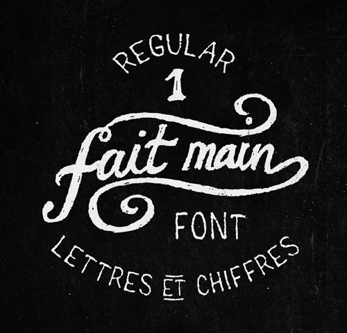 Regular 1 Fait Main free fonts
