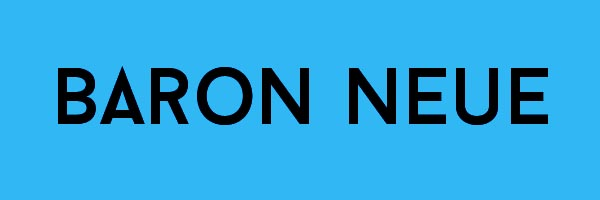 Baron Neue Font Free Download
