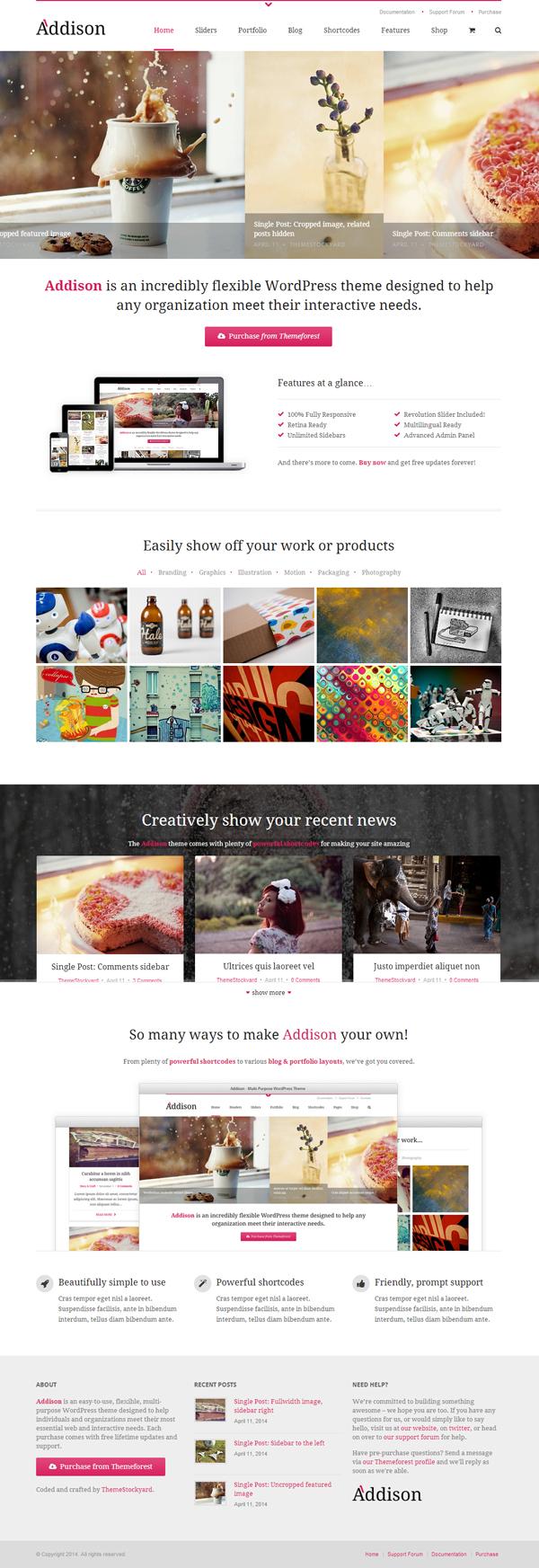 Addison - Premium Multi-Purpose WordPress Theme