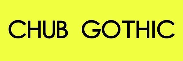 Chub Gothic Font Free Download