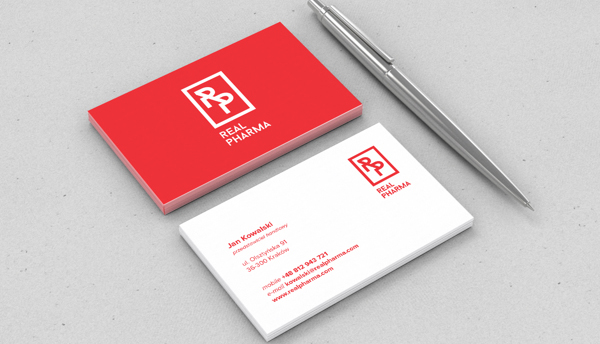 Real Pharma Branding Business Card