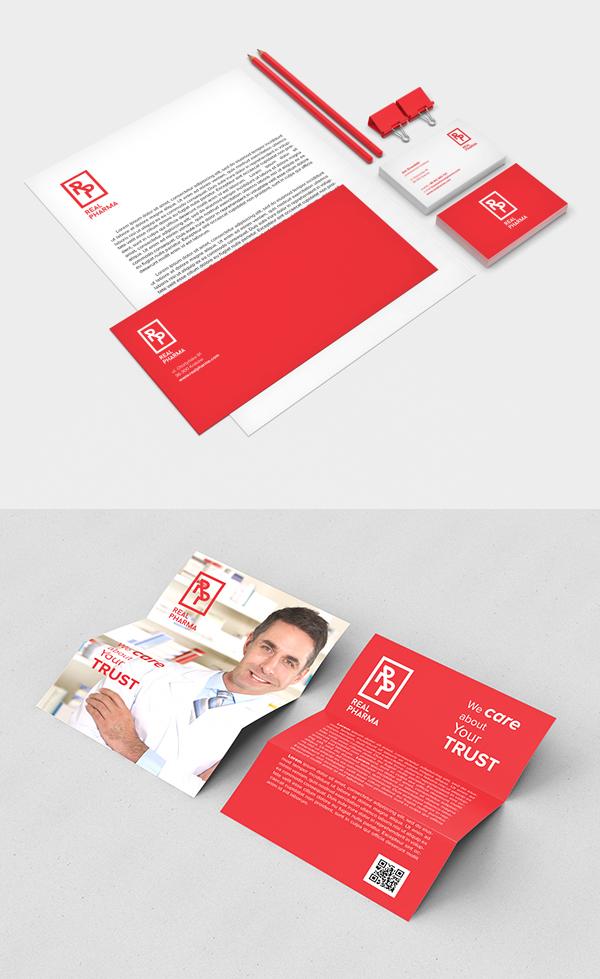 Real Pharma Branding Stationery