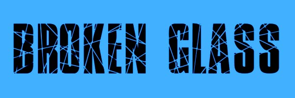 Broken Glass Font Free Download