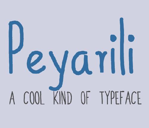 Peyarili free fonts
