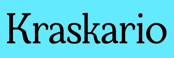 Kraskario Font Free Download