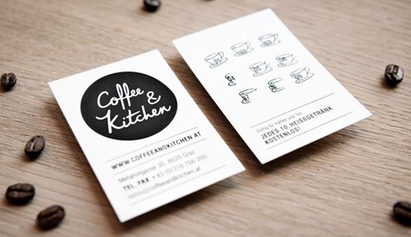 Coffee & Kitchen Branding Business Card