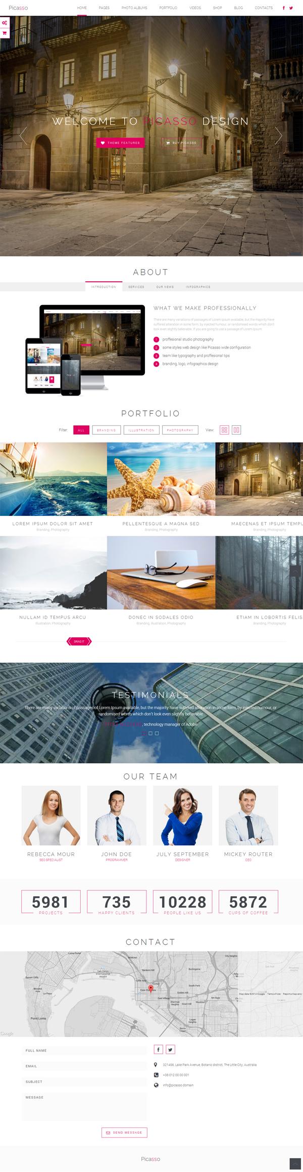 Picasso - Responsive Multi-Purpose WordPress Theme