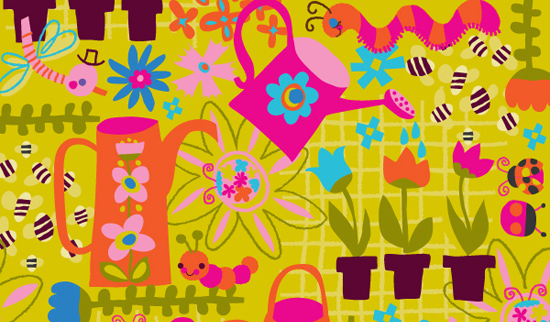 Happy spring pattern
