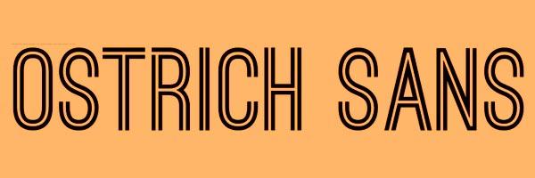 Ostrich Sans Font Free Download