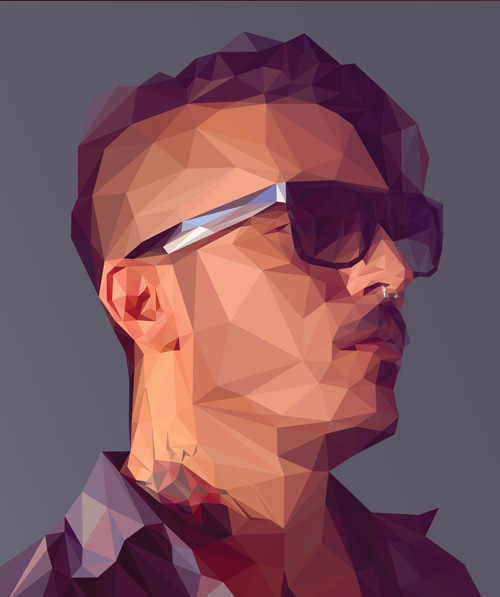 Low-Poly Portrait Illustrations for Inspiration - 5