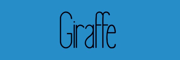 Giraffe Font Free Download