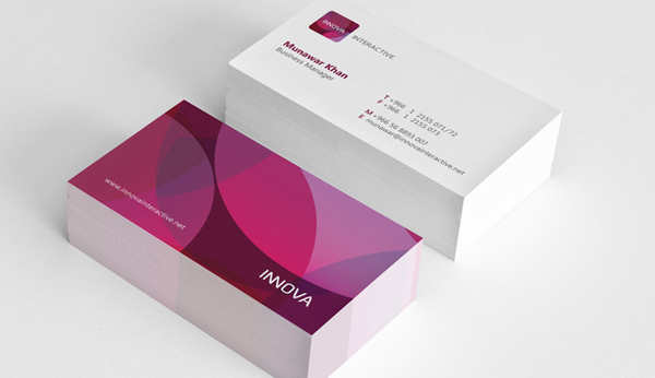 Innova Interactive Identity Branding Business Card