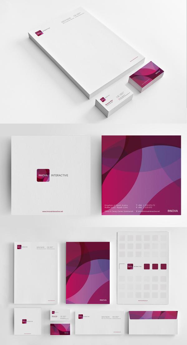 Innova Interactive Identity Branding Stationery
