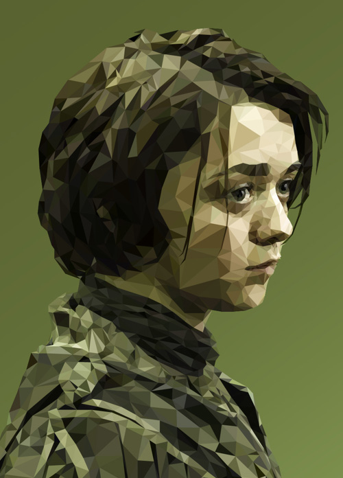 Low-Poly Portrait Illustrations for Inspiration - 7