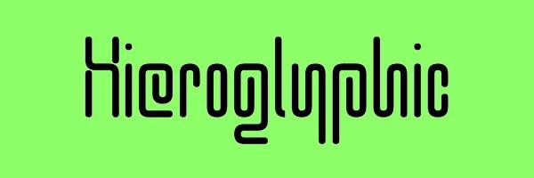 Hieroglyphic Font Free Download