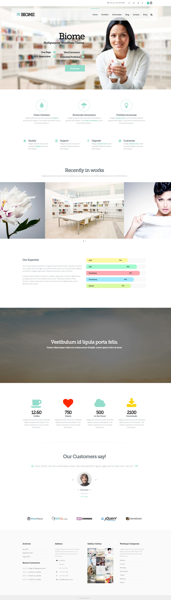 Biome - Multipurpose One Page WordPress Theme