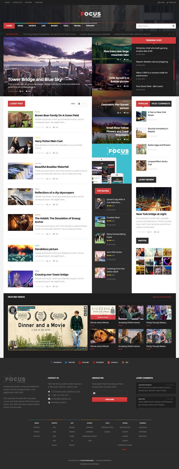 Focus News & Magazine WordPress Theme