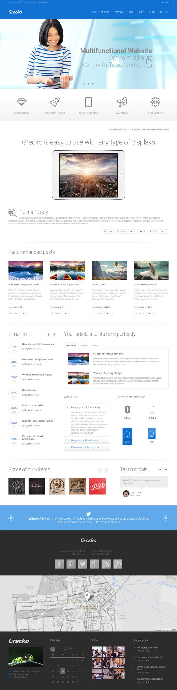 Grecko - Multipurpose Responsive WordPress Theme