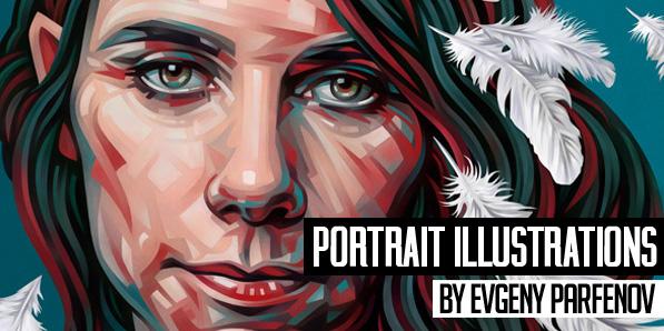 28 Amazing Portrait Illustrations by Evgeny Parfenov