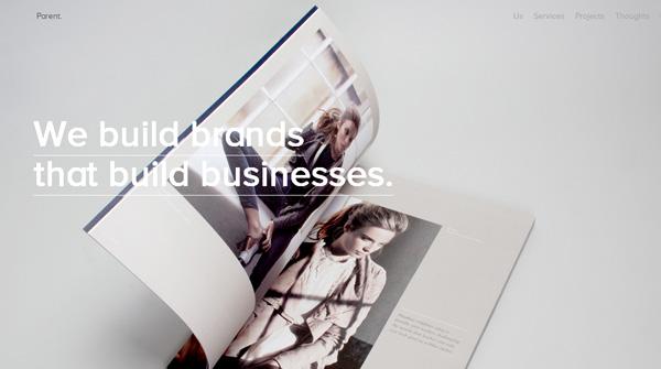 Publihsing Brand Website Done in Minimal Style