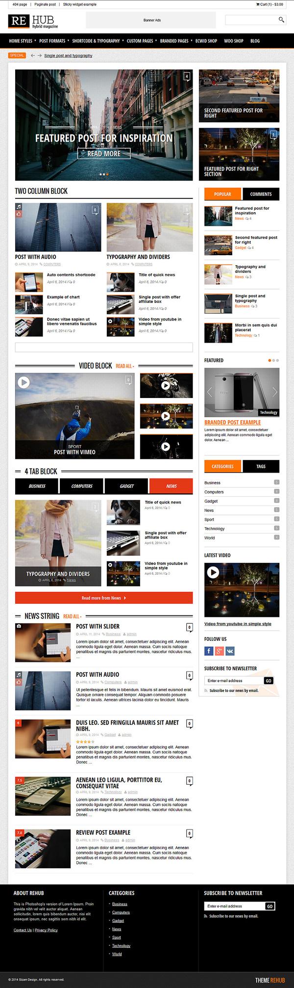 REHub - Hybrid News, Shop, Review, Affiliate WordPress Theme