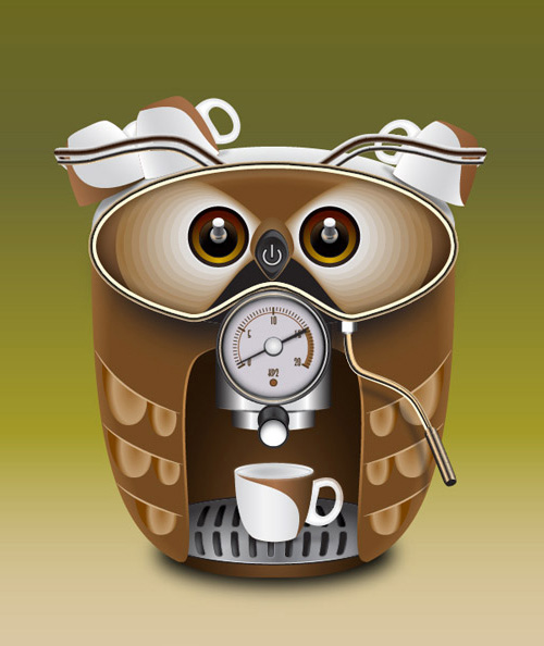 How to Create a Cute Coffee Maker in Illustrator Tutorial