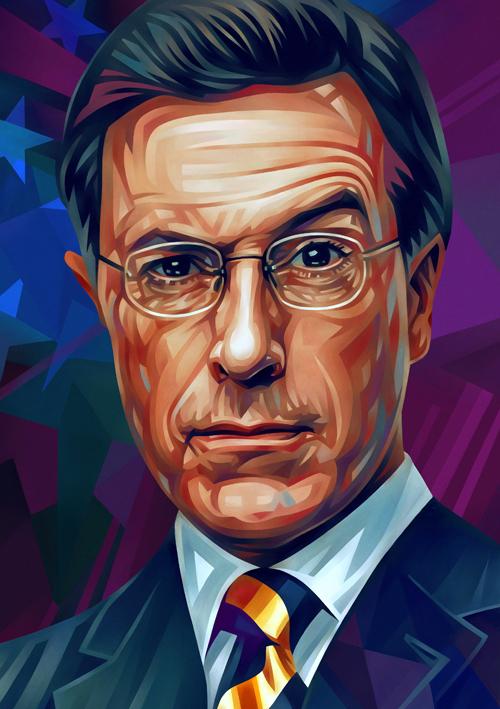 Stephen Colbert Portrait Illustration