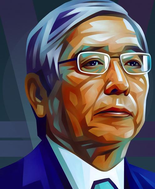 Haruhiko Kuroda Portrait Illustration