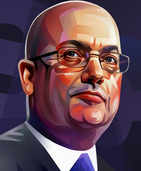 Steven A. Cohen Portrait Illustration