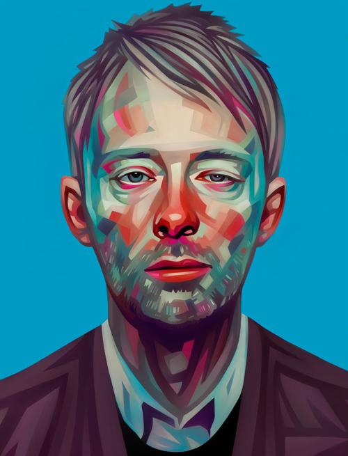 Thom Yorks Portrait Illustration