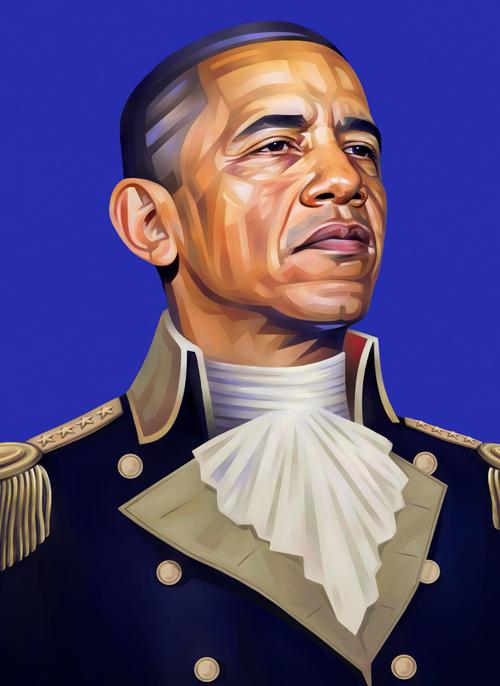 Barack Obama Portrait Illustration
