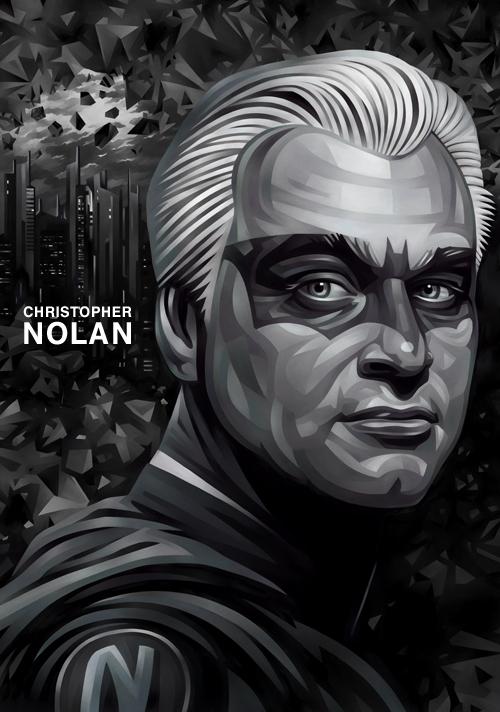 Christopher Nolan Portrait Illustration